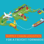 Supply chain logistics for a freight forwarder business